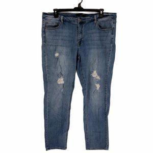 Denim 24/7 Womens Boyfriend  Fit Denim Jeans 20 W